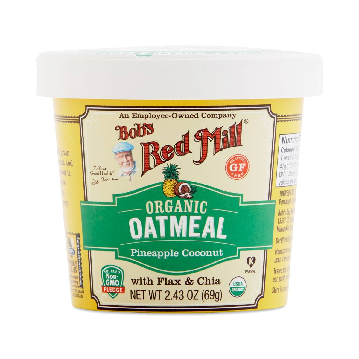 Bob 39 s red mill organic pineapple coconut oatmeal cup for Bob s fish market