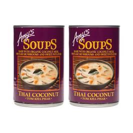 Thai Coconut Soup, Tom Kha Phak, 2-Pack