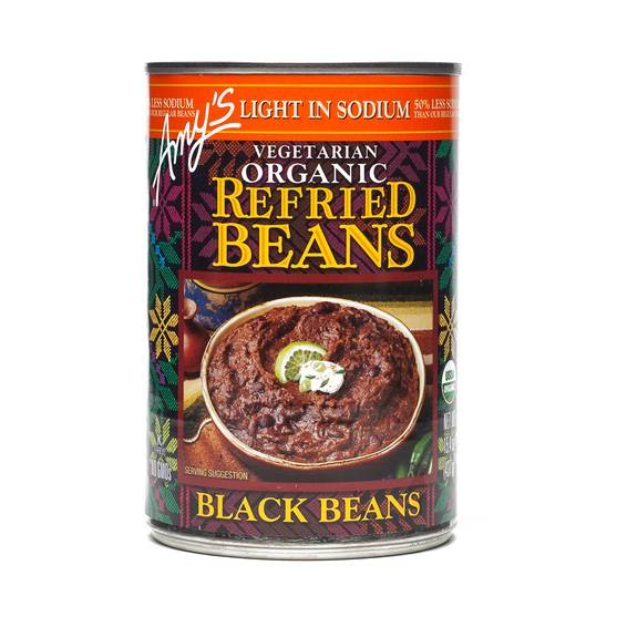 Organic Refried Black Beans - Low Sodium