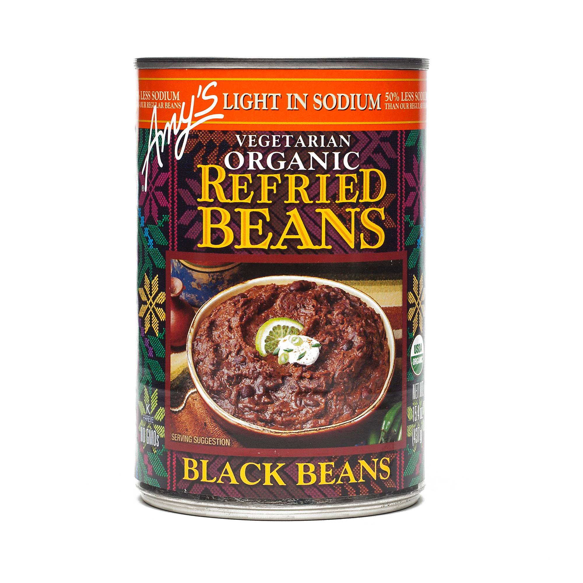 Amy's Organic Refried Black Beans, Low Sodium - Thrive Market