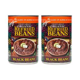 Organic Refried Black Beans - Low Sodium(2-pack)