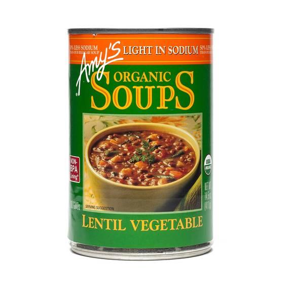 Organic Lentil Vegetable Soup - Low Sodium