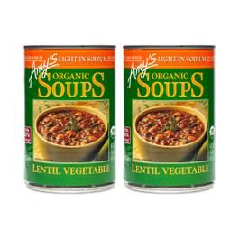 Organic Lentil Vegetable Soup - Low Sodium (2-pack)