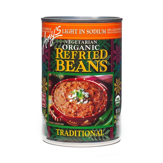 Organic Traditional Refried Beans - Low Sodium