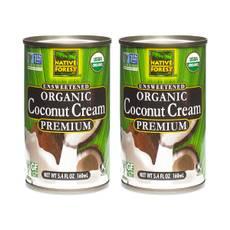 Organic Coconut Cream, Unsweetened, 2-pack