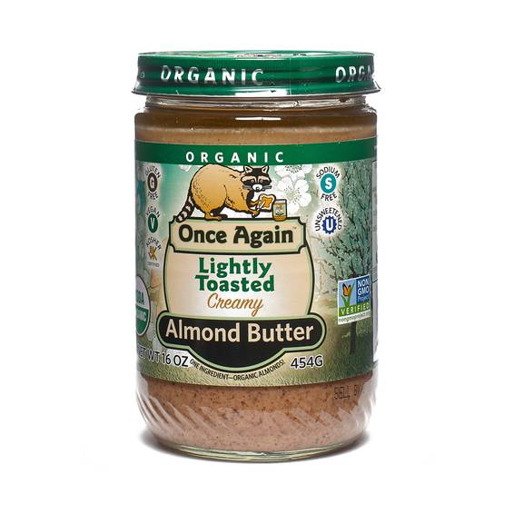 Organic Creamy Almond Butter - Lightly Toasted