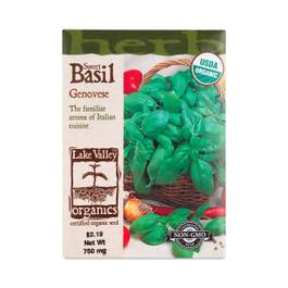 Organic Heirloom Genovese Basil
