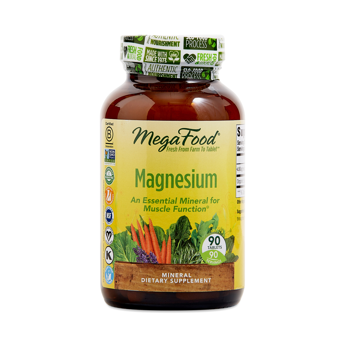 Best magnesium supplement for leg cramps Mega Food Magnesium 90 tablets