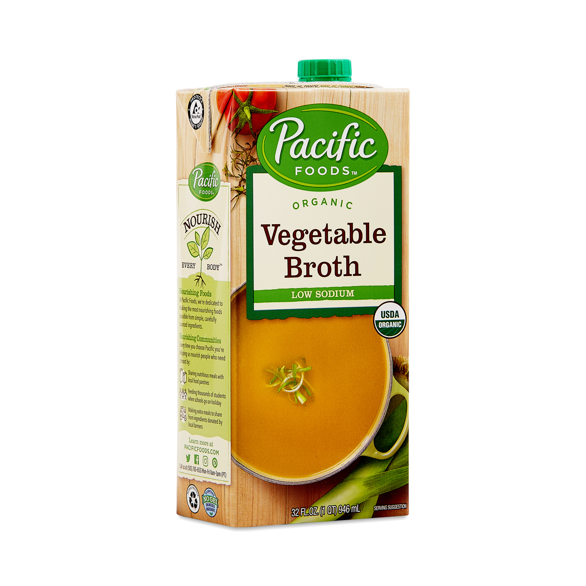 Pacific Foods Organic Low Sodium Vegetable Broth 32 fl oz carton