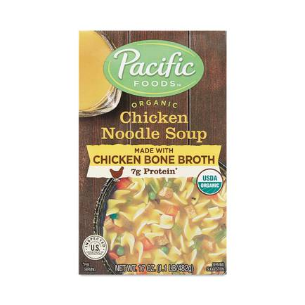 Organic Chicken Noodle Soup With Chicken Bone Broth By Pacific Foods