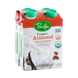 Organic Almond Beverage, Vanilla 4-Pack
