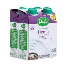 Organic Hemp Beverage, Vanilla 4-Pack