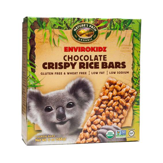 Organic Chocolate Crispy Rice Cereal Bar
