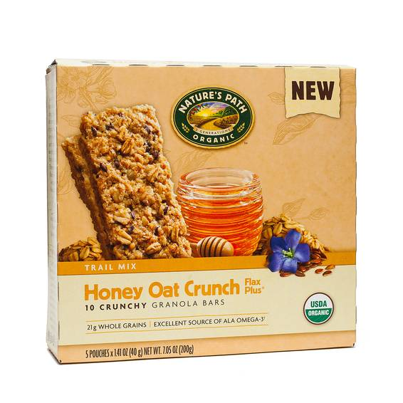 Organic Crunchy Granola Bar - Honey Oat Crunch Flax Plus
