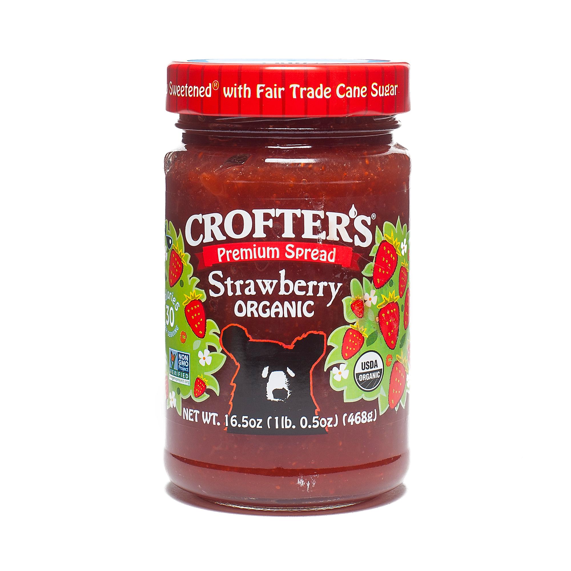 Crofters Organic Strawberry Jam 16.5 oz jar