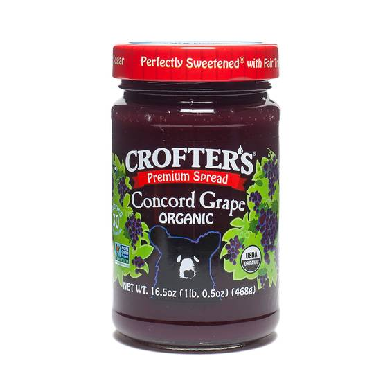 16.5 oz Concord Grape Fruit Spread, Organic by Crofters - Thrive ...