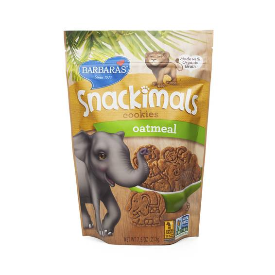 Non-GMO Oatmeal Snackimals Cookies