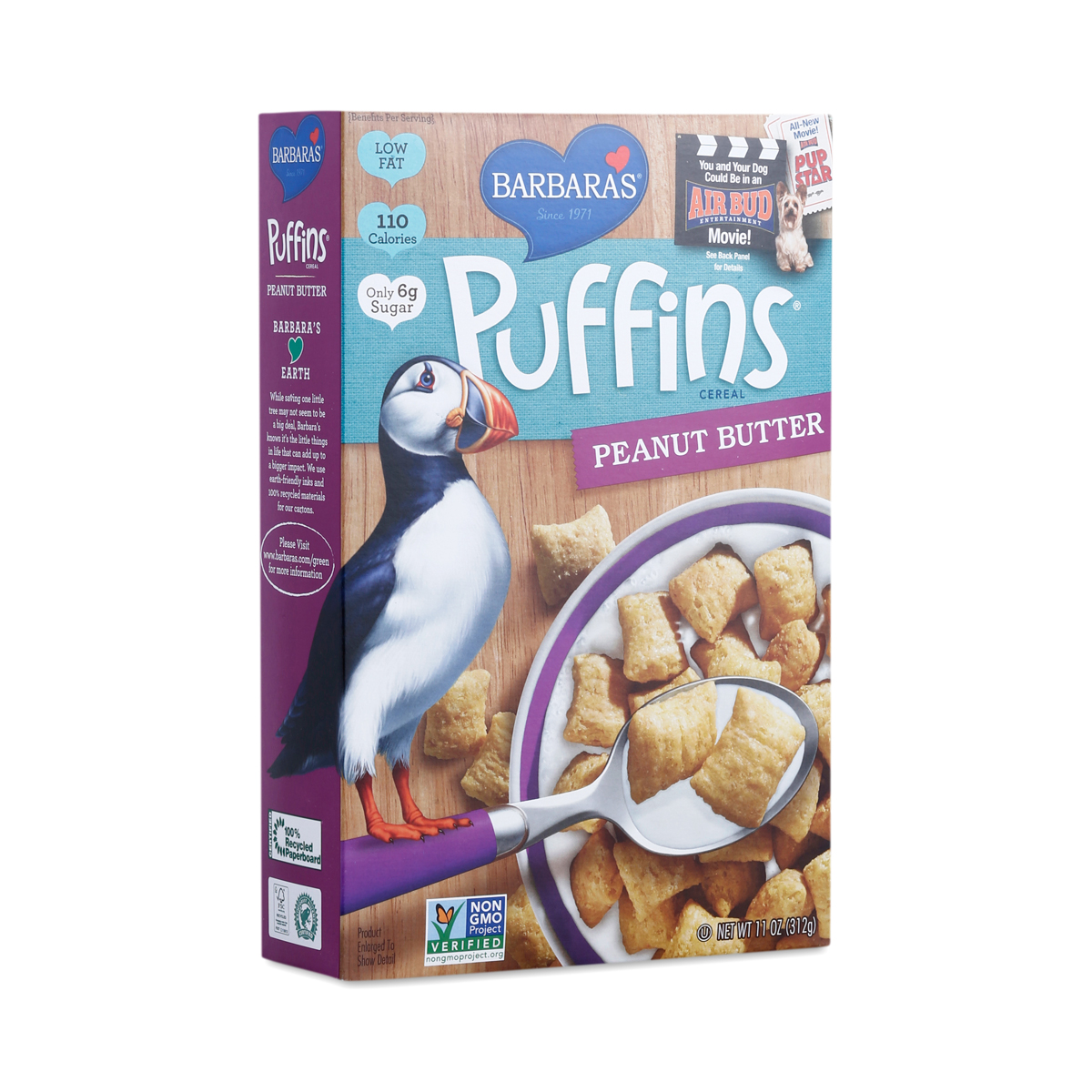 Peanut Butter Puffins Cereal By Barbara's