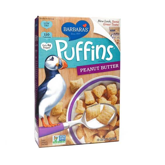Non-GMO Peanut Butter Puffins Cereal