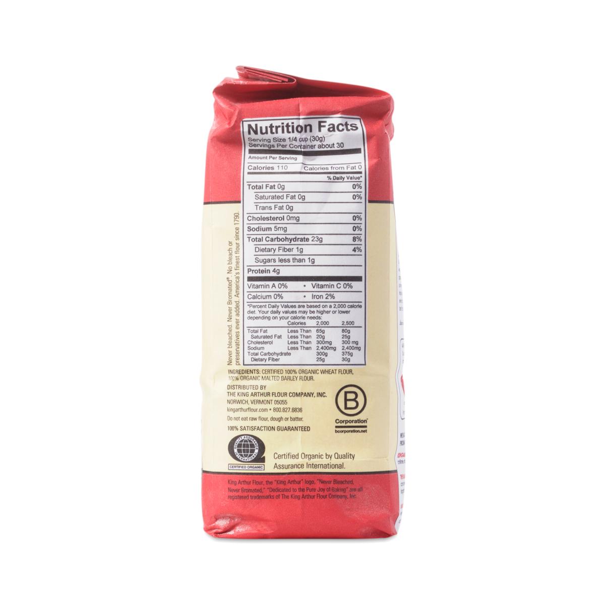 Organic, Unbleached All-Purpose Flour