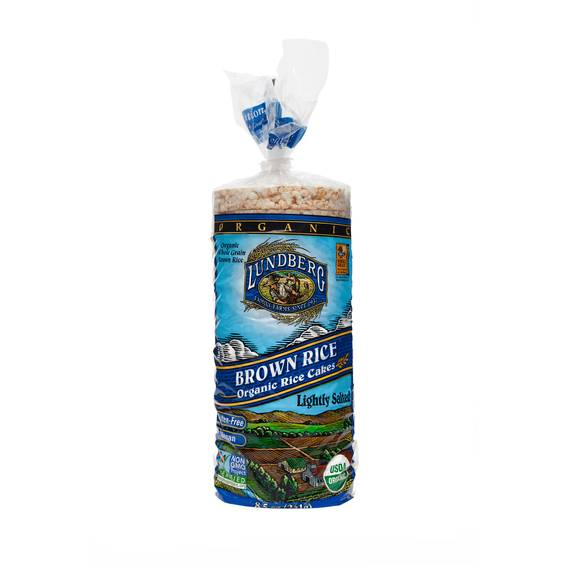 Organic Brown Rice Cakes - Lightly Salted