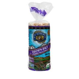 Organic Brown Rice Cakes, Salt Free