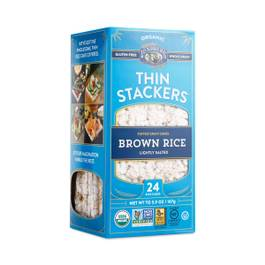 Organic Brown Rice Thin Stackers, Lightly Salted