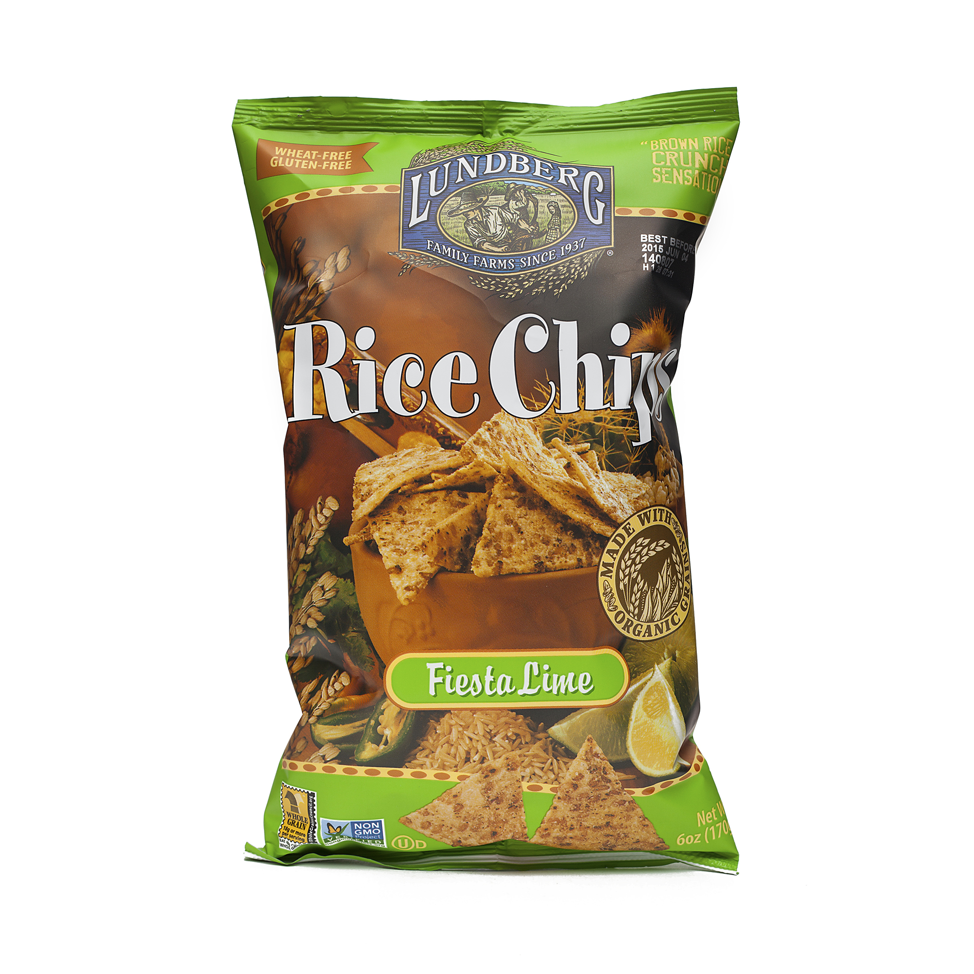 Fiesta Lime Rice Chips by Lundberg Farms - Thrive Market