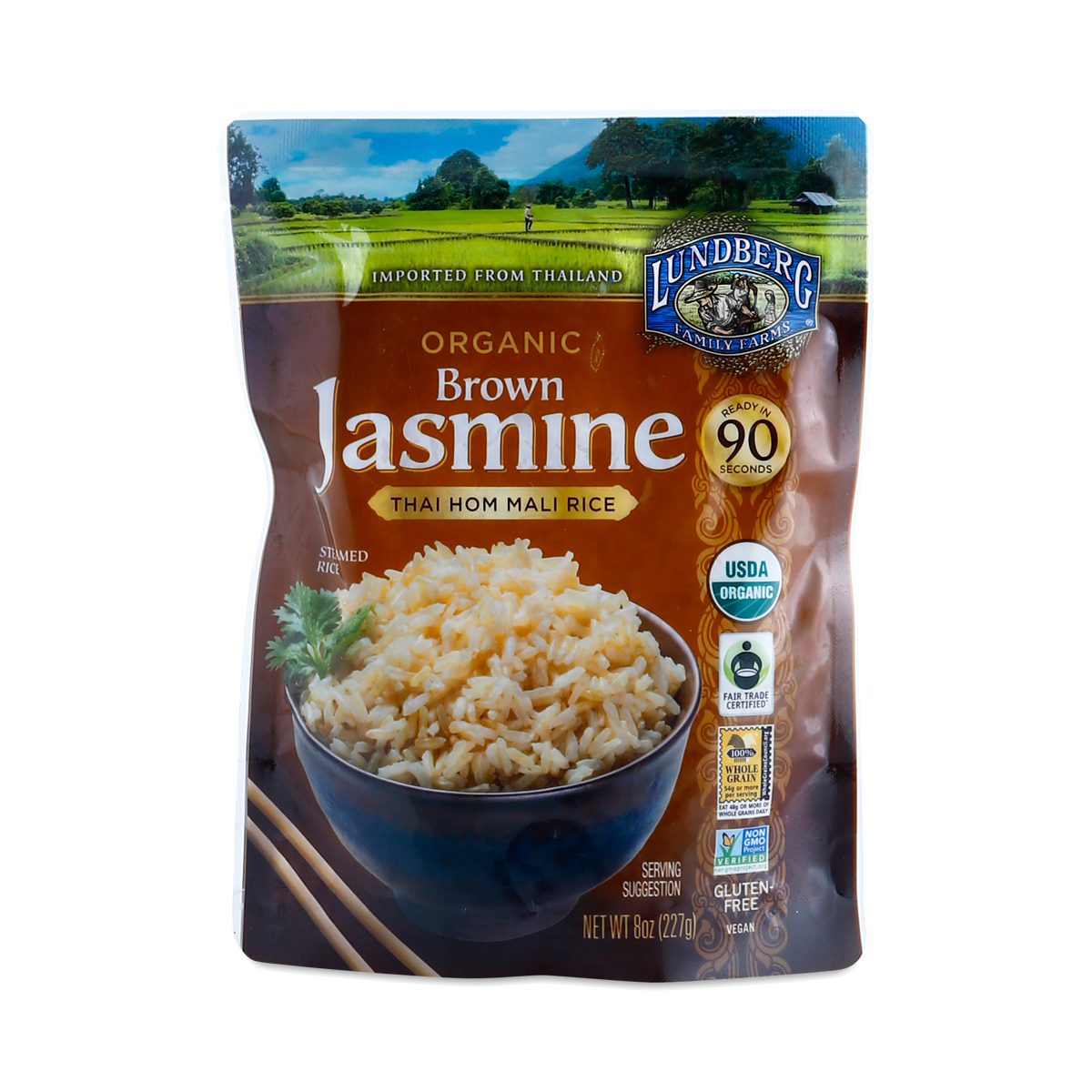 Organic Brown Jasmine Rice by Lundberg Farms - Thrive Market