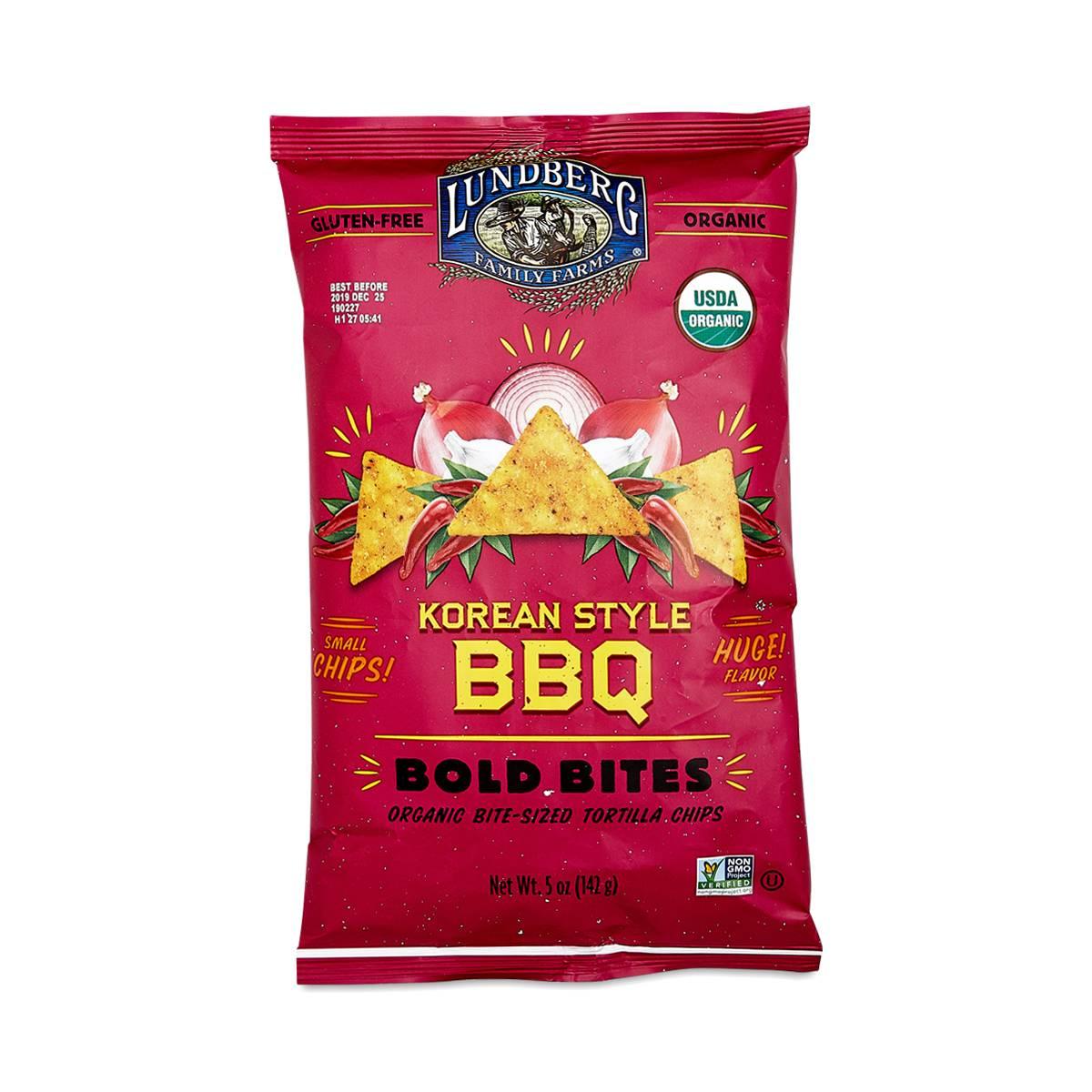 Lundberg Family Farms Korean Style BBQ Bold Bites Tortilla Chips - Thrive Market