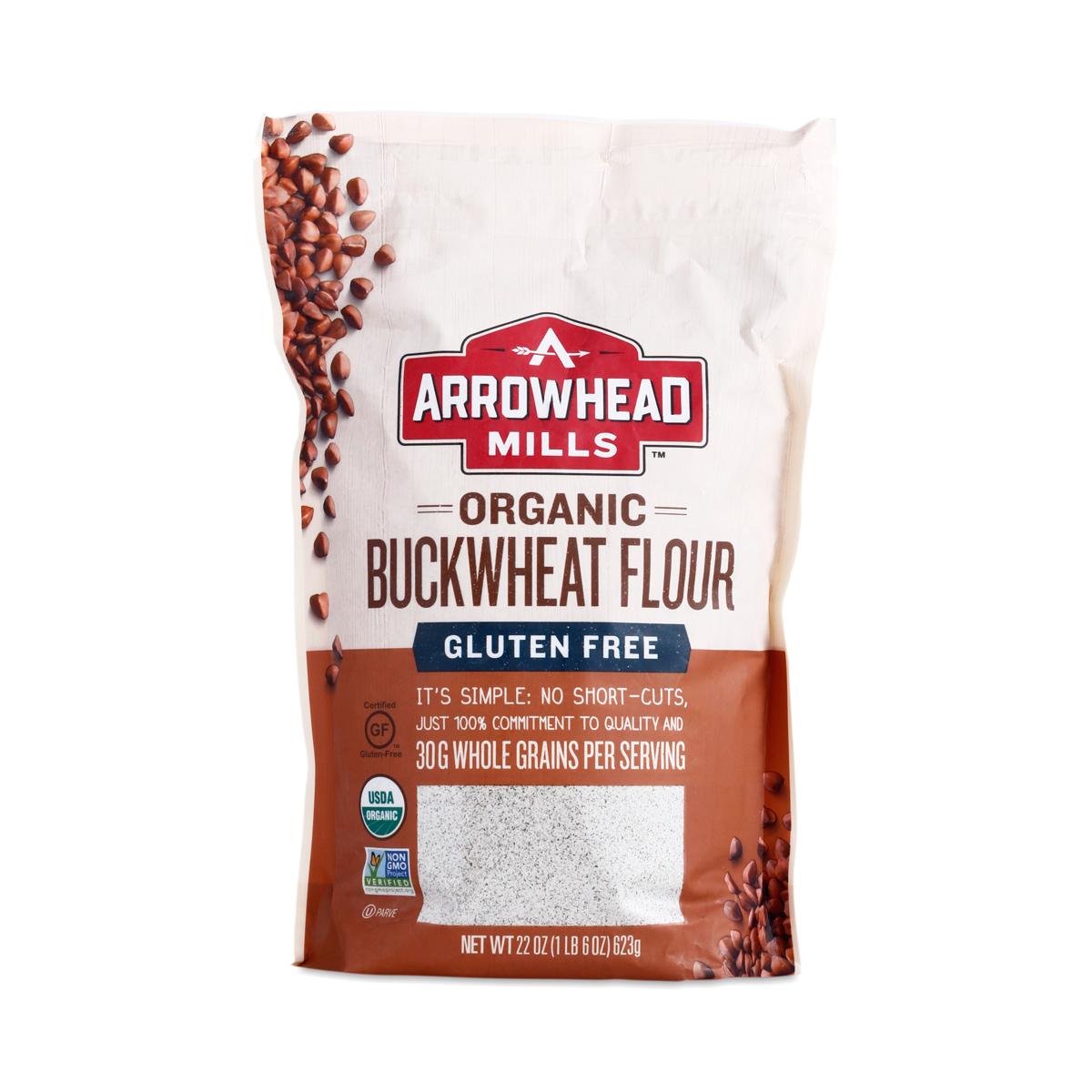Gluten Free & Organic Buckwheat Flour by Arrowhead Mills
