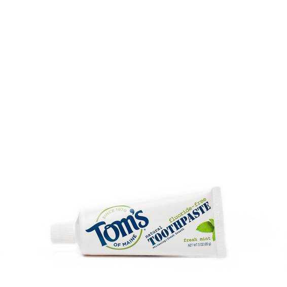 Fluoride-Free, Natural Travel Size Toothpaste - Fresh Mint
