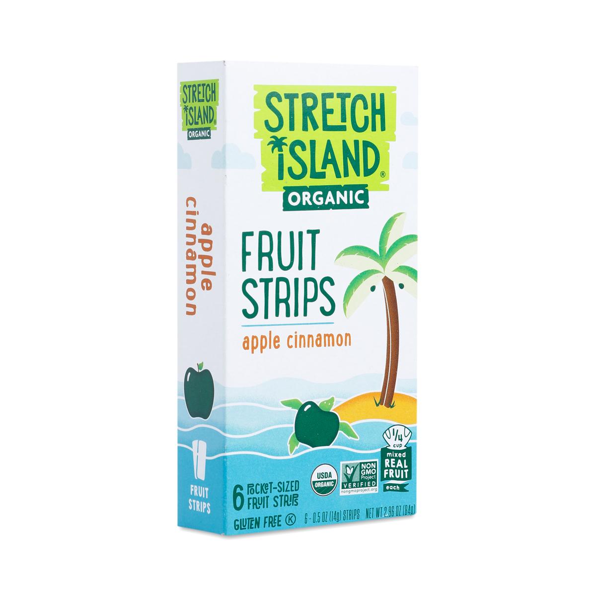 Stretch Island Organic Fruit Strips Apple Cinnamon