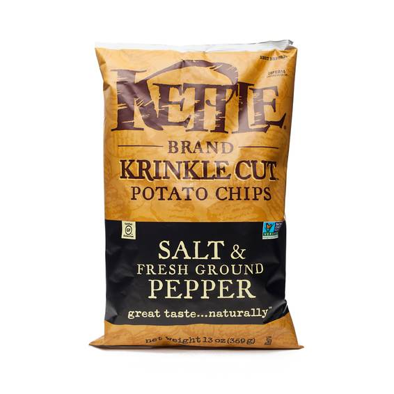 Salt and Fresh Ground Pepper Krinkle Cut Chips