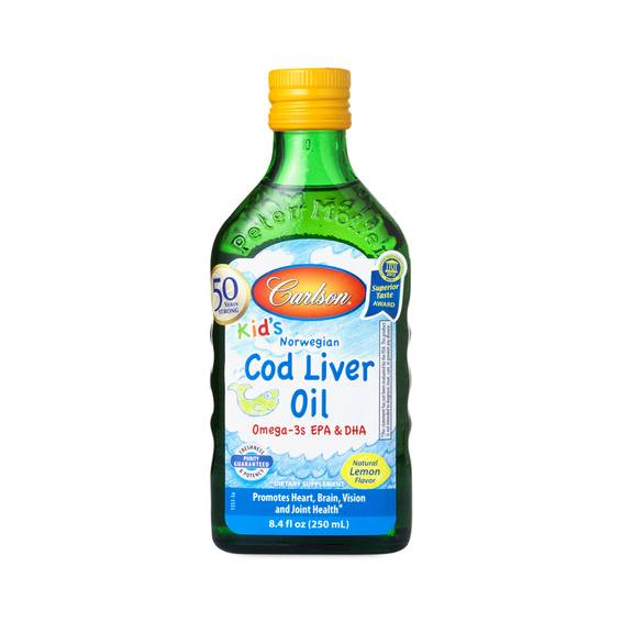8 5 Oz Kids Cod Liver Oil By Carlson Labs Thrive Market