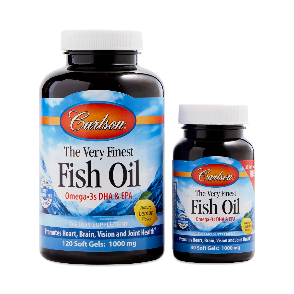 Carlson Labs Very Finest Fish Oil Lemon Thrive Market