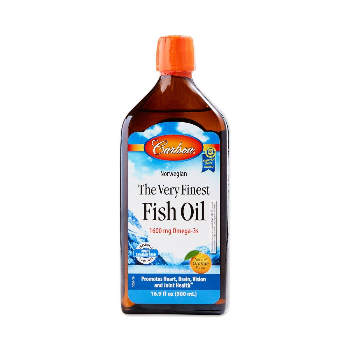 Orange very finest fish oil by carlson labs thrive market for Carlson labs fish oil
