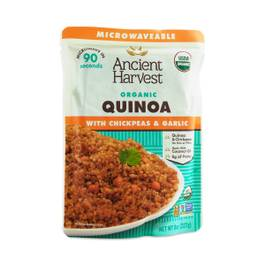 Organic Microwaveable Quinoa with Chickpeas & Garlic