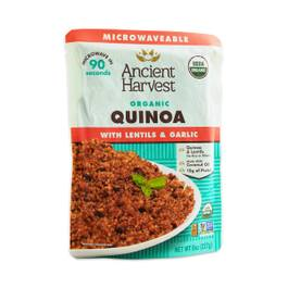 Organic Microwaveable Quinoa with Lentils & Garlic