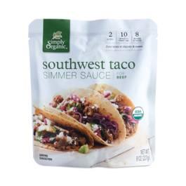 Organic Southwest Taco Simmer Sauce