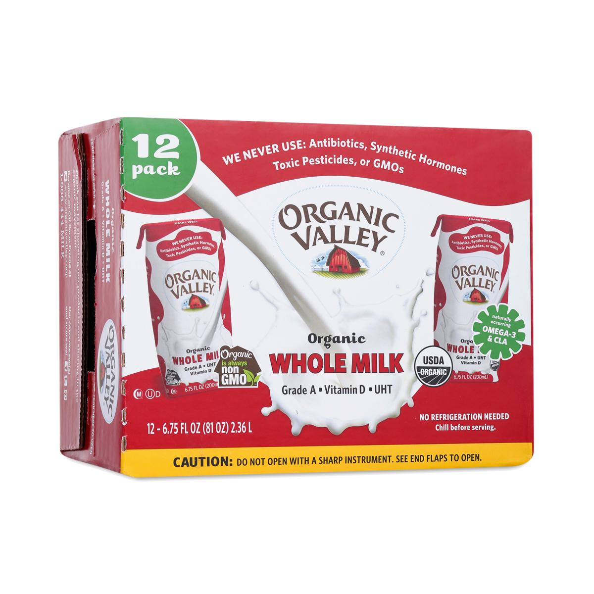 Organic Essence Organic Whole Milk, Single Serve