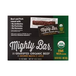 Organic Grassfed Beef Mighty Bar, Bacon & Apple