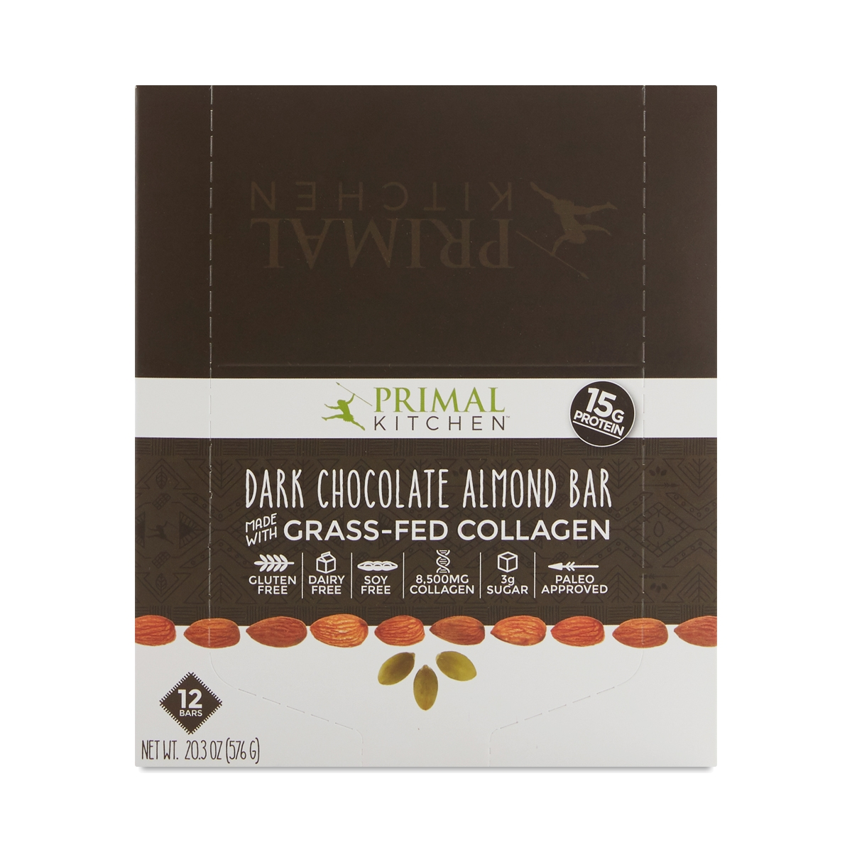 Primal Kitchen Primal Kitchen Dark Chocolate Almond Bars  Thrive Market