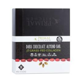 Dark Chocolate Almond Bar with Grass-Fed Collagen, 12-Pack