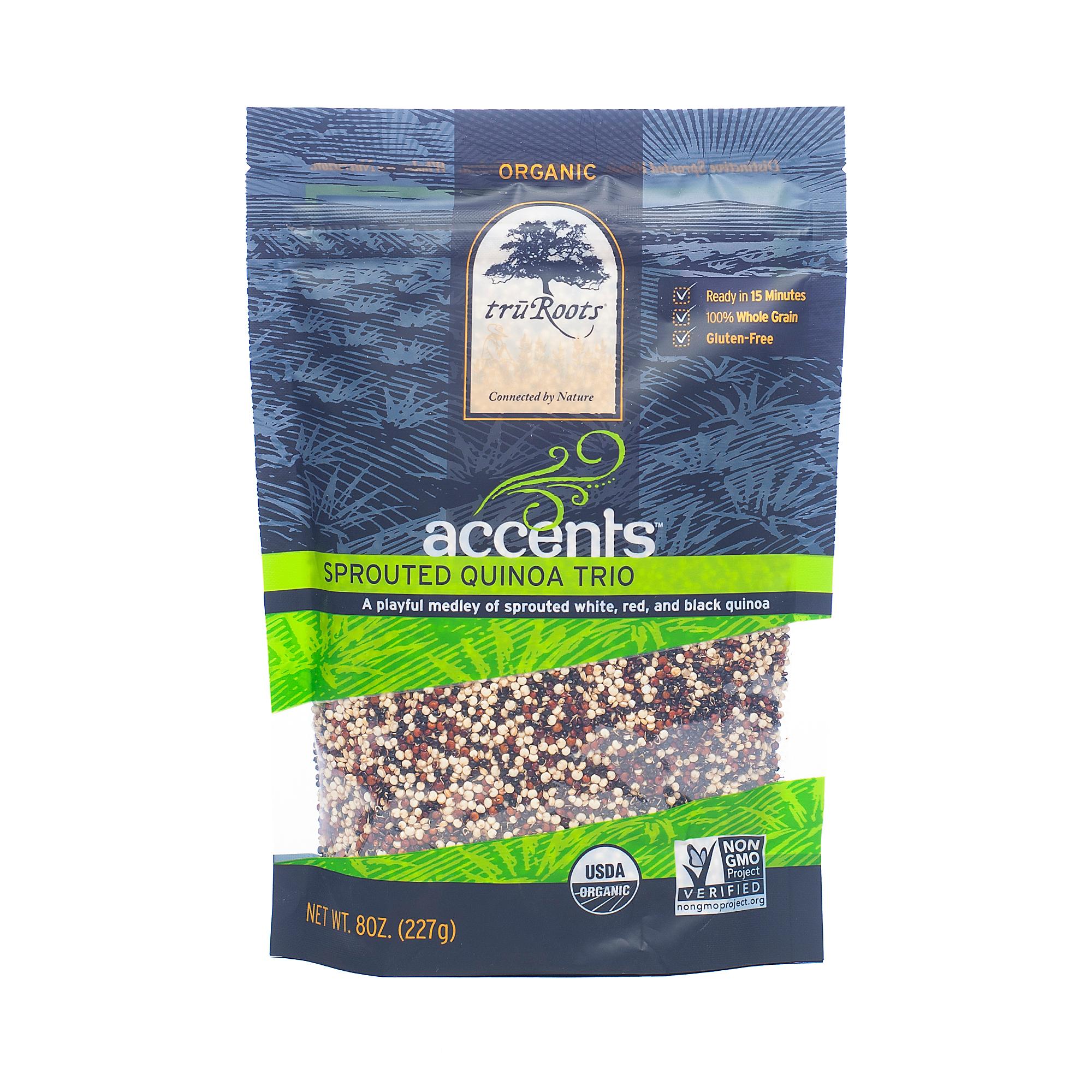 TruRoots Organic Sprouted Quinoa Trio 8 oz bag