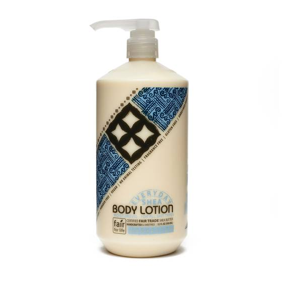 Fair Trade Shea Butter Body Lotion Unscented