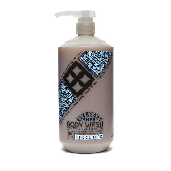 Fair Trade Shea Butter Body Wash Unscented