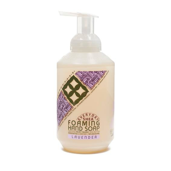 Fair Trade Shea Butter Foaming Hand Soap Lavender