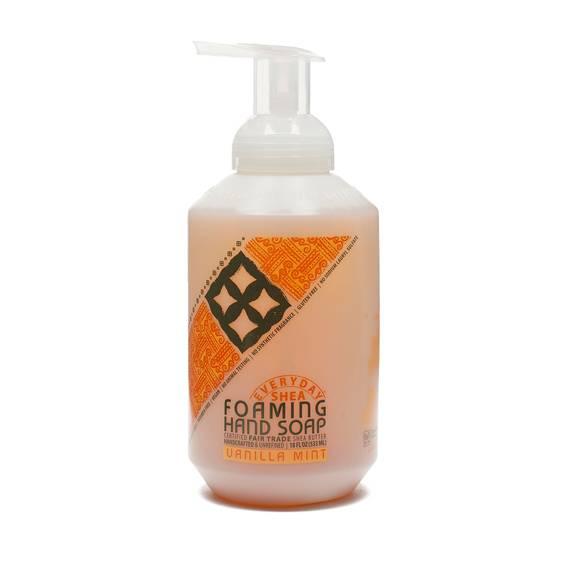 Fair Trade Shea Butter Foaming Hand Soap Vanilla Mint