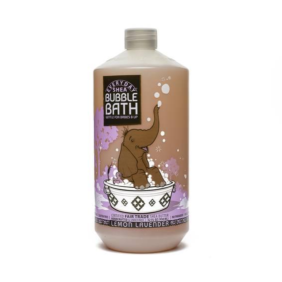 Fair Trade Shea Butter Baby Bubble Bath Calming Lemon Lavender